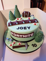 Fortnite Boogie Bomb Cake