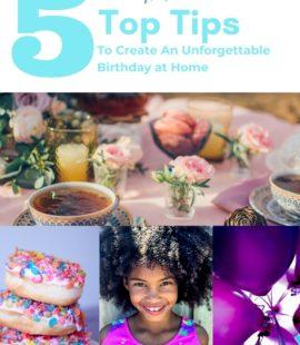 5 ways to celebrate birthday at home
