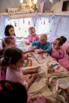 Children at a Caravan Party